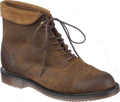 Dr. Martens Cath 7 Tie Pixie Boot (women's) - Dark Brown Oiled Suede