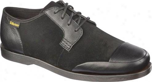 Dr. Martens Danny 4-eye Lace Shoe (men's) - Black Broadway/hi Sueed Wp