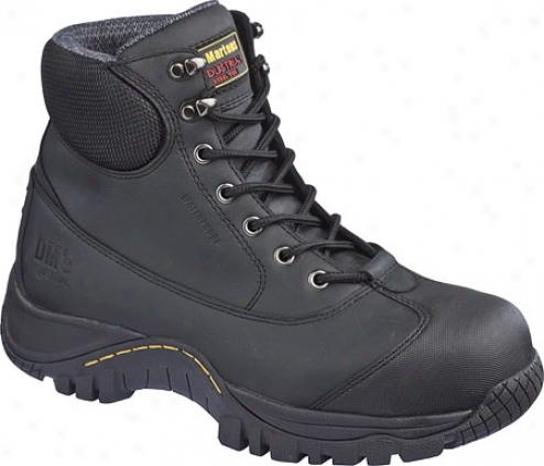 Dr. Martens Heatu St 7 Tie Boot - Black Industrial Greasy