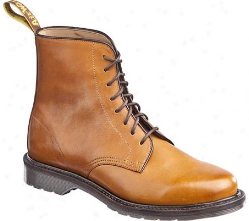Dr. Martens Jeffrey 8-eye Boot (men's)-  Tan Burnished Servo Lux