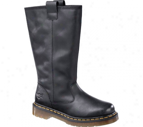Dr. Martens Juney Tall Pull On Boot (women's) - Black Polished Laredo