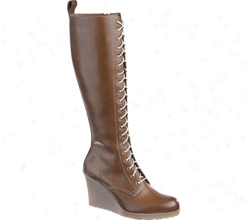 Dr. Martens Leanne 20 Eye Zip Boot (women's) - Brown Burnished Servo Lux