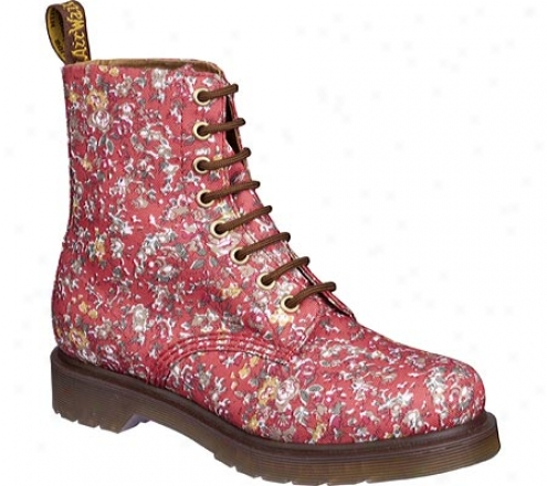 Dr. Martens Page Folded Topline 8-eye Boot (women's) - Coral Meadow