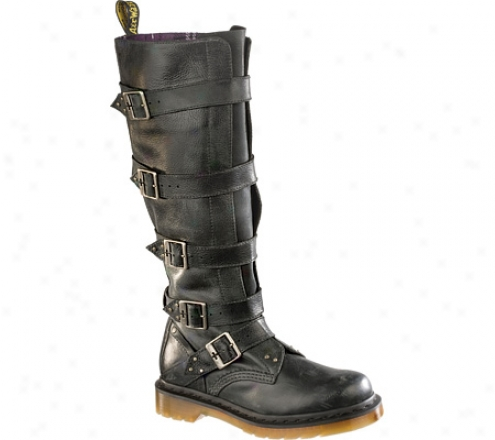 Dr. Martenq Phoenix Phina Tall Boot (women's) - Black Mirage