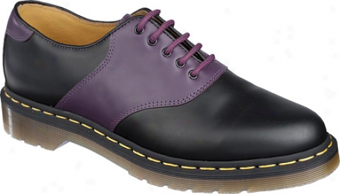 Dr. Martens Rafi Saddle Shoe - Black/purple Smooth