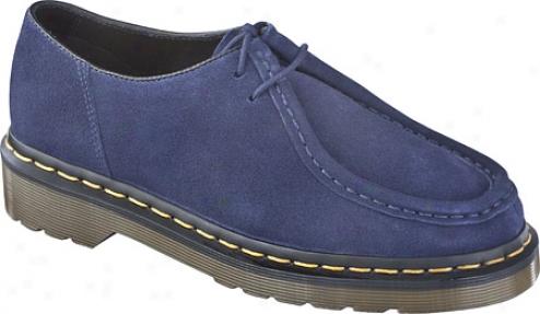 Dr. Martens Redford 2 Eye Bellows Shoe - Navy Hi Suede Wp