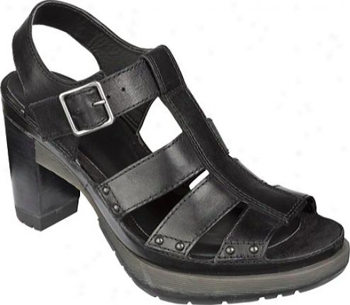 Dr. Martens Vanessa 3-strap Sndal (women's) - Black Polished Laredo