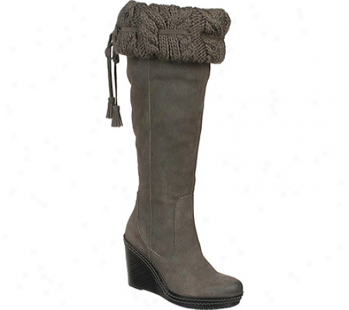 Dr. Scholl's Builder (women's) - Elephant Grey Bota Oil Leathe5