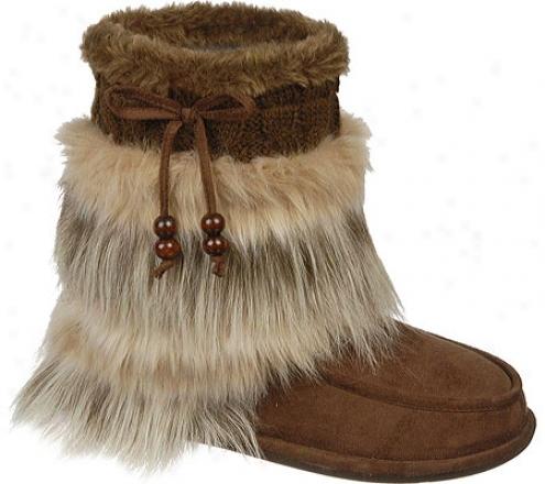 Dr. Scholl's Chewy (women's) - Brown Microfiber/faux Fur