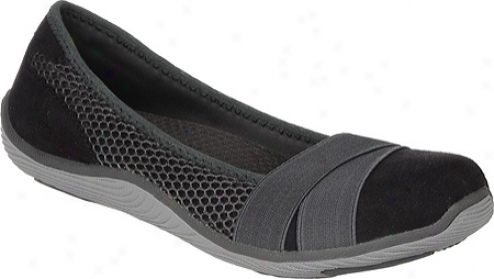 Dr. Scholl's Jayleen (women'q) - Black/grey Suede/mesh