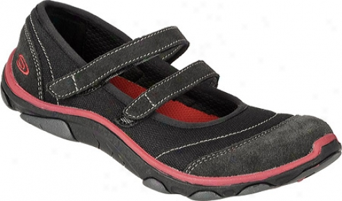 Dr. Scholl's Mulbery (women's) - Black/red Mesh/leather