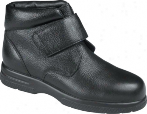 Drew Big Easy (men's) - Black Pebbled Leather