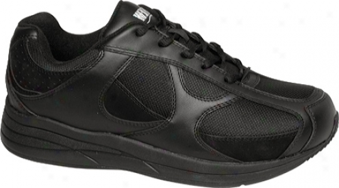 Drew Surge (men's) - Black Leather/nuuck/mesh