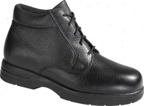 Drew Tuscon (men's) - Black Pebbleed Leather