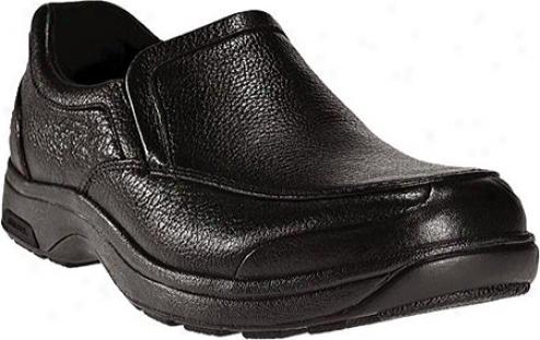 Dunham Battery Park Slip-on 8003 (men's) - Black Polishable Leather
