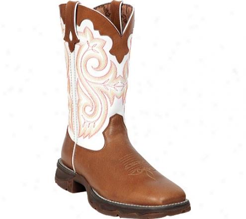 """durango Boot Rd3477 10"""" Flirt (women's) - Tan/white"""
