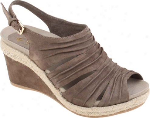 Earthies Tesi (women's) - Dark Khaki Kid Suede