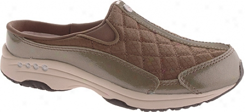 Easy Spirit Traveltime 12 (women's) - Dark Green/light Natural Patent