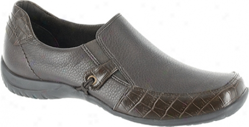 Easy Street Wakefield (women's) - Brown Tumbled Smooth/croco