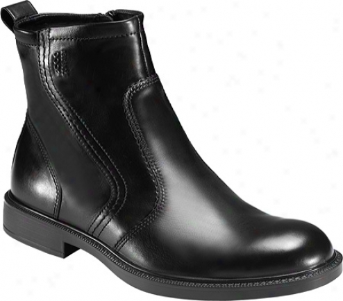 Ecco Atlanta Plain Toe Boot (men's) - Black Luxe