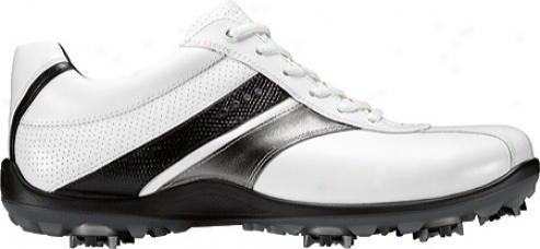 Ecco Casual Cool Ii 150024 (men's) - White/buffed Silver/black Leather