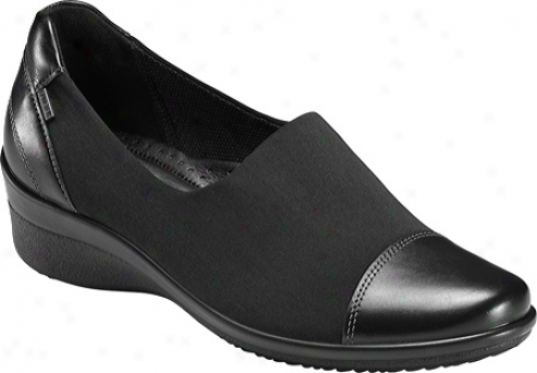 Ecco Corpse Gtx Slip On (women's) - Black/black Luxe/stretch