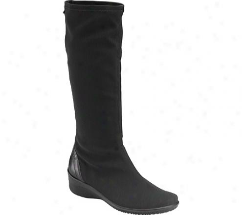 Ecco Corse Gtx Stretch Tall Boot (women's) - Black/black Stretch/luxe