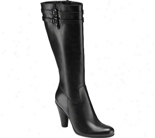 Ecco Laurel Tall Boot (womn's) - Black Soft Touch Leafher