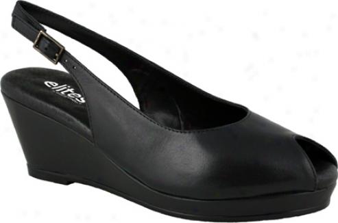 Elites Natasha (women's) - Black Soft Leather