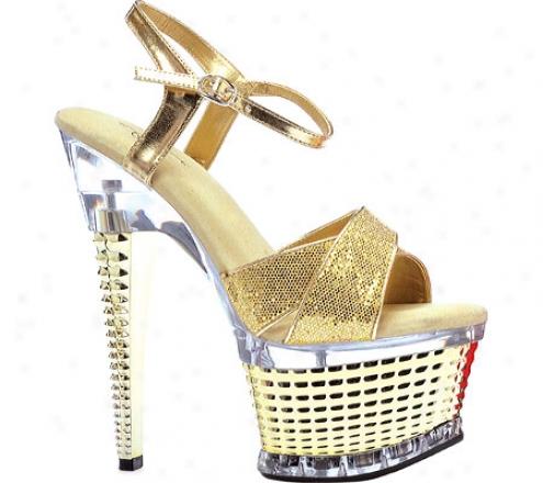 Ellie Disco-649 (women's) - Gold Glitter Fabric