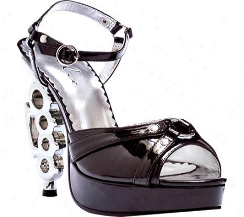 Ellie Slick-550 (women's) - Black/silver Pu