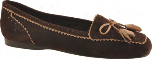 Enzo Angiolini Letter (women's) - Dark Brown/natural Suede