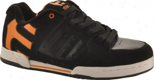 Etnies Pistonn (men's) - Black/orange/white