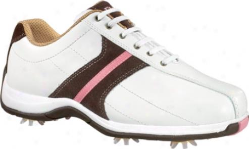 Etonic Leisure Ls401 (women's) - White/chocolate/pink