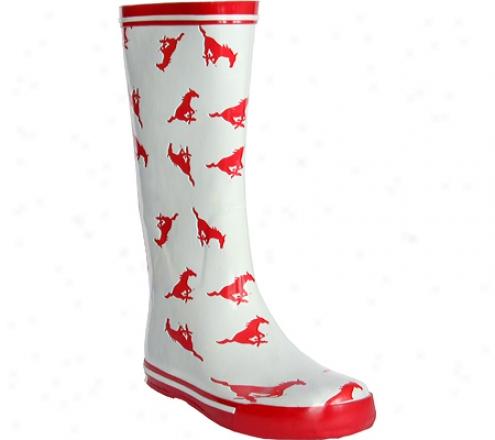 Fanshoes S0uthern Methodist University Rubber Boot (women's) - White