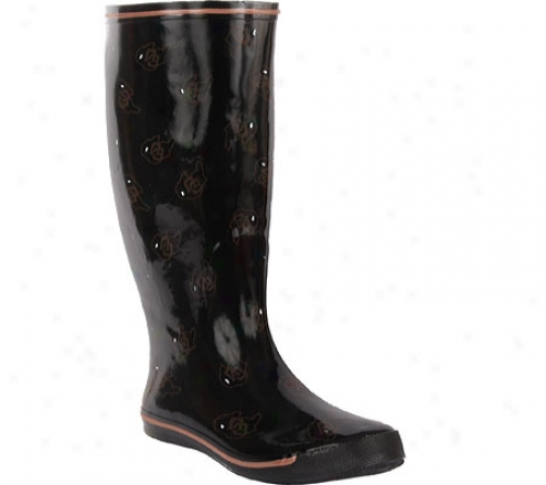 Fanshoes University Of Colorado Rubber Boot (women's) - Black