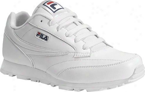 Fila Classico 9 (men's) - White/peacoat/chinese Red