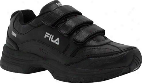 Fila Comfort Trainer Adjustable (men's) - Black/black/metallic Silver