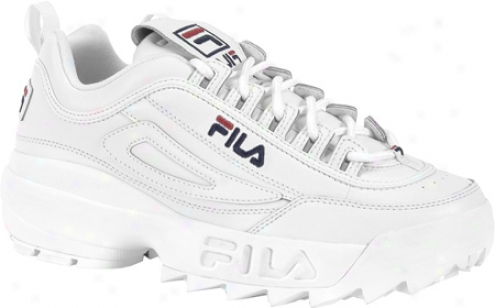 Fila Disruptor Ii (men's) - White/peacoat/vintage Red