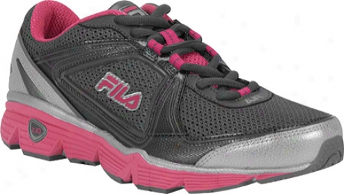 Fila Dls Circuit (women's) - Castlerock/metallic Silver/hot Pink