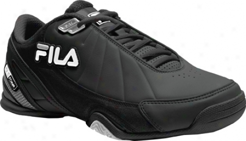 Fila Dls Slam Low 1sb063fx (men's) - Black/white/metallic Silver