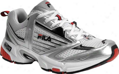 Fila Intensity 1sr060lm (men's) - Metallic Silver/black/chinese Red