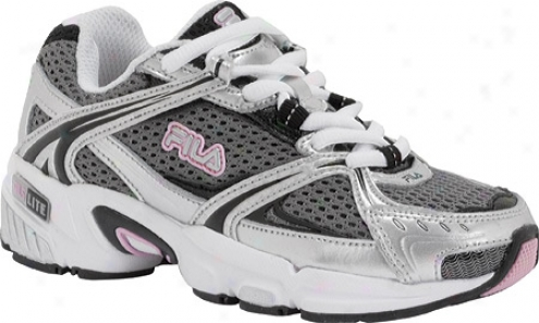 Fila Tytaneum (children's) - Metallic Silver/black/pink Lady