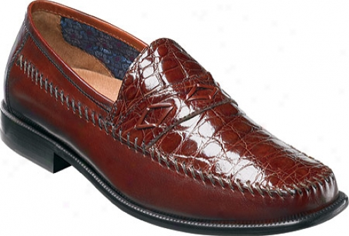 Florsheim Alfonso (men's) - Cognac Caiman Crocodile/smooth Leather