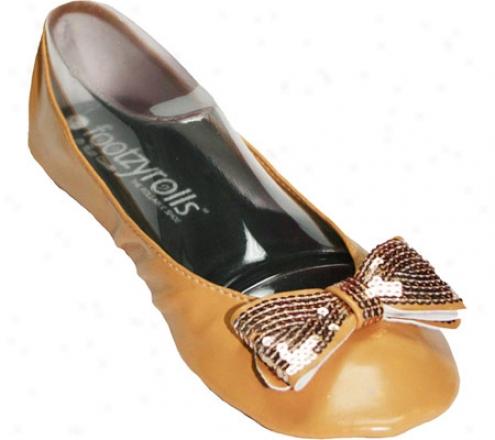 Footzyrolls Sparkle Bow (women's) - Gold