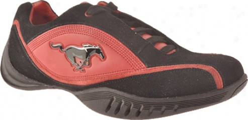 Ford Mustang Fm005 (men's) - Red/black Leather/suede