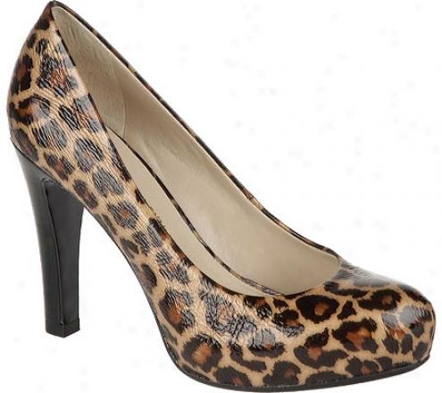 Franco Sarto Cicero (women's) - Tan Leopard Lak Patent