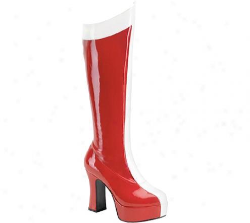 Funtasma Exotica 305 (women's) - Red/white Stretch Patent
