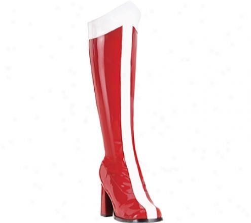 Funtasma Gogo 305 (women's) - Red/white Stretch Patent