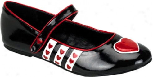 Funtasma Hearts 16 (women's) - Black/red/white Patent
